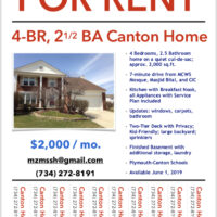 Canton Home for Rent - Available Now